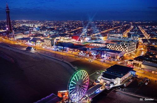 Blackpool Central Development at Night